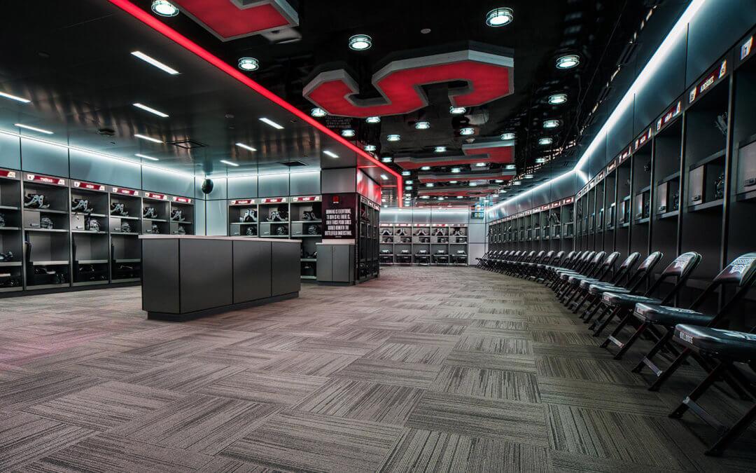 Davis Wade Stadium Locker Room